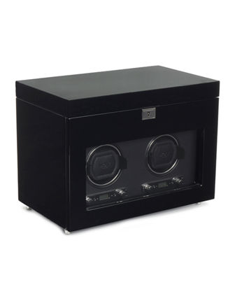Savoy Double Watch Winder with Storage