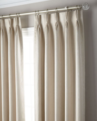 3-Fold Pinch Pleat Shimmer Curtain Panel, 132""