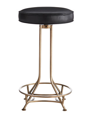 Bexah Leather Counter Stool