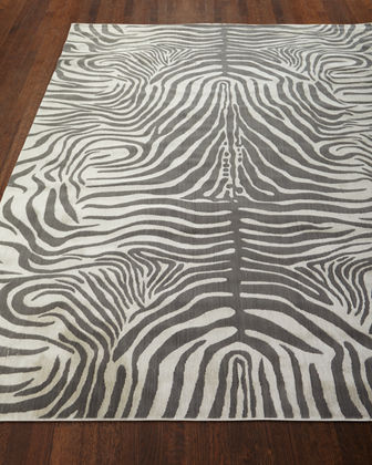 Dariya Power-Loomed Zebra Rug  3.9' x 5.9'
