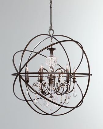 Solaris 6-Light Crystal Sphere Chandelier