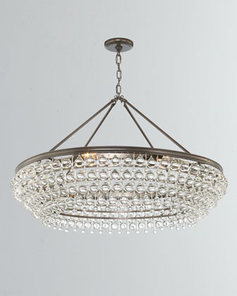 Calypso 8-Light Crystal Teardrop Chandelier