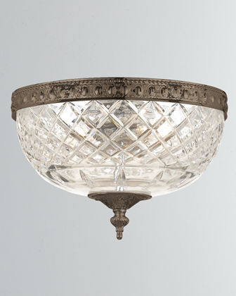 2-Light Crystal Ceiling Mount