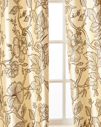 Home Silks Petra Curtain Panel, 108