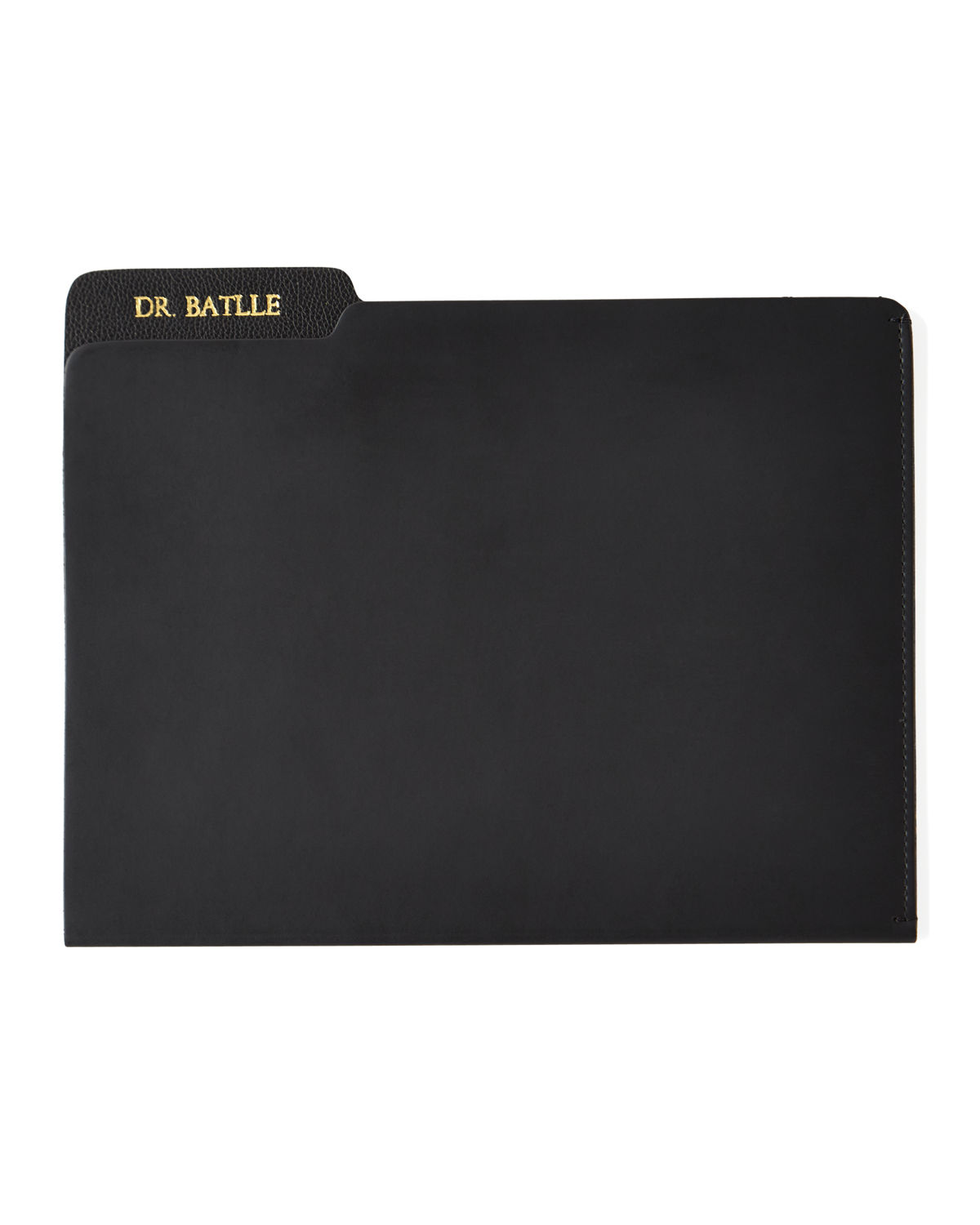 Genuine Leather File Folder Personalized