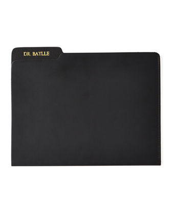 Genuine Leather File Folder, Personalized
