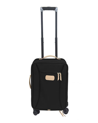 Coated Canvas Carry-On Luggage with Wheels