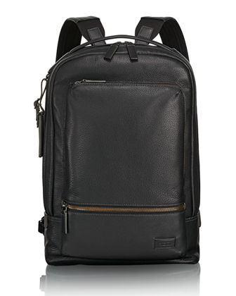 Tumi Bates Leather Backpack with 14