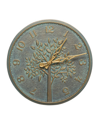 "Tree of Life 16"" Indoor/Outdoor Wall Thermometer"