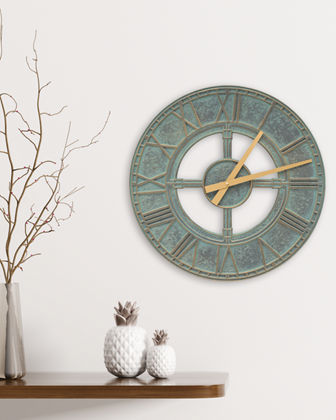 "Woodridge 16"" Indoor/Outdoor Wall Clock"