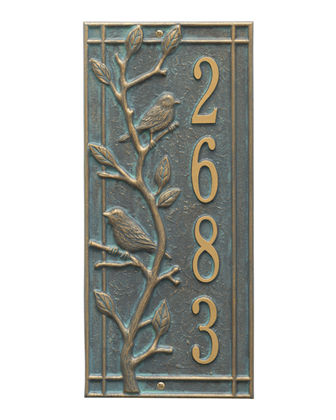 Personalized Woodridge Vertical Plaque