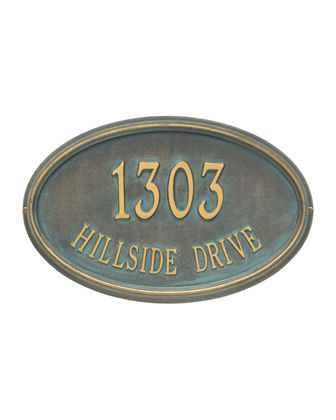 Personalized Concord Oval Plaque