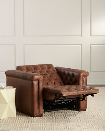 Luca Tufted Leather Motion Chair