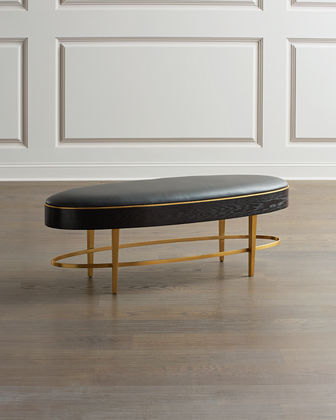 Ellipse Leather Oval Bench