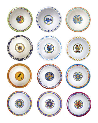 Assorted Mini Melamine Bowls  Set of 12