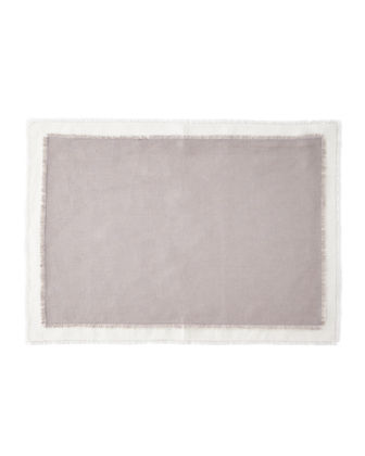 SFERRA Farrell Colorblock Linen Placemats, Set of 4