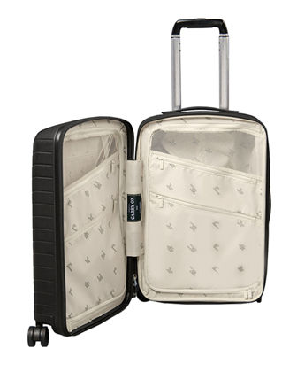 "Expandable 22"" Carry-On Spinner Luggage w/ Removable Battery"