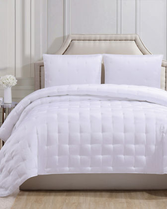 Silky Satin Queen Coverlet Set