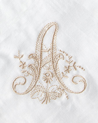 Boutross Imports Initial Monogrammed Dinner Napkins, Set of