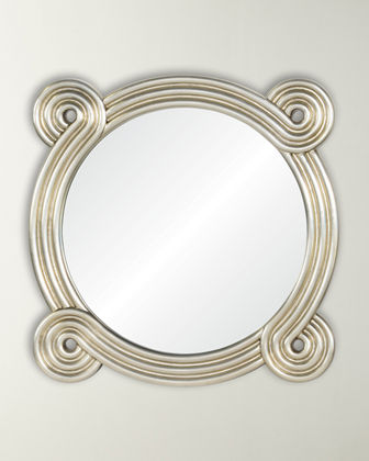 Distressed Rounded Mirror