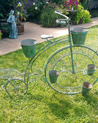 Stephania Big Wheel Large Bicycle with 6 Pot Plant Stand