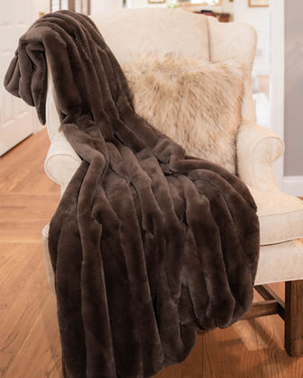 Posh Faux Fur Throw