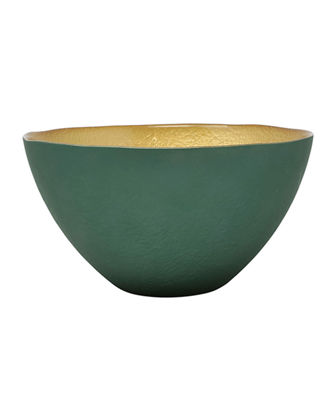Two-Tone Glass Small Deep Bowl