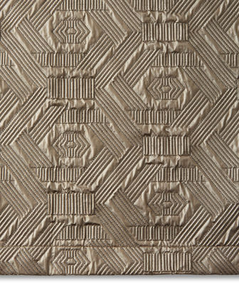Dian Austin Couture Home Metallic Geometric Quilted King