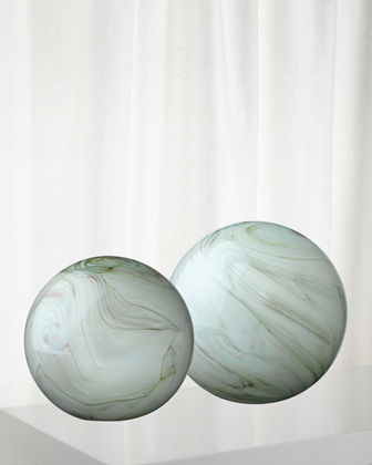 Cosmos Glass Balls  Set of 2