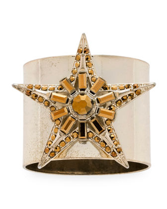 Baguette Star Napkin Rings  Set of 2