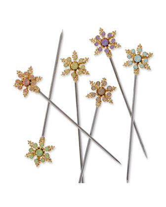 Snowflake Cocktail Picks, Set of 6