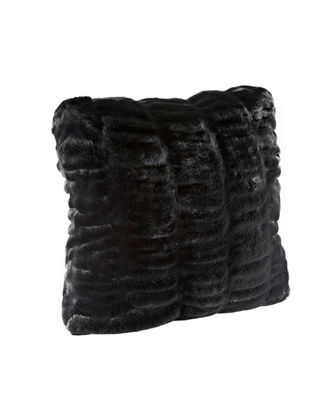 Couture Collection Faux Fur Pillow