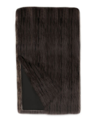 Fabulous Furs Apres Faux Mink Fur Throw