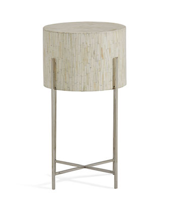 Bone Drum Accent Table