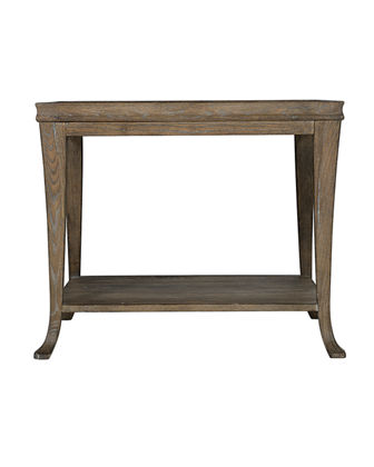 Rustic Patina Gallery Framed End Table