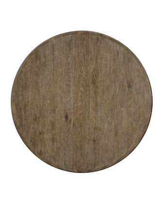 Rustic Patina Knotty Oak Round Dining Table