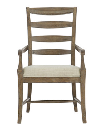 Rustic Patina Ladderback Arm Chairs, Set of Two