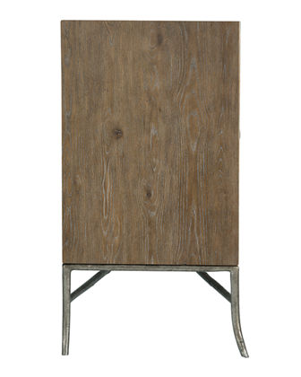 Rustic Patina Fabric Wrapped Entertainment Console