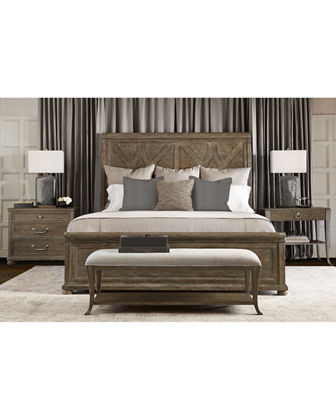 Rustic Patina Fancy Panel Bed - Queen