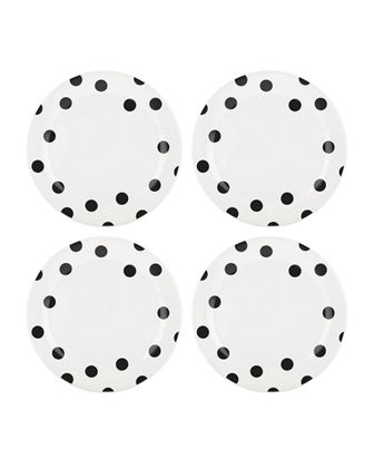 deco dot   dinner plates, set of four