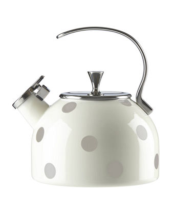 whistle while you work enamel teakettle
