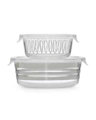 charlotte st round dishes with lids, set of two