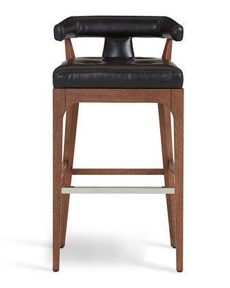 Global Views Moderno Leather Bar Stool