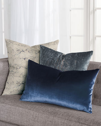 Focaccia Light Blue Decorative Pillow