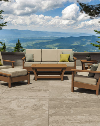All-Weather 6-Piece Outdoor Living Set with Pillows