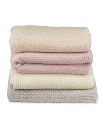 Basket Weave Cashmere Throw